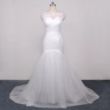 Dlhé svadobné šaty - 10 veľkostí, 2 farby - Obrázok č. 1