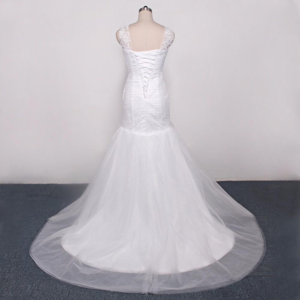 Dlhé svadobné šaty - 10 veľkostí, 2 farby - Obrázok č. 4