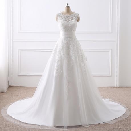 Dlhé/krátke svadobné šaty- 8 veľkostí, 2 farby-2v1 - Obrázok č. 1