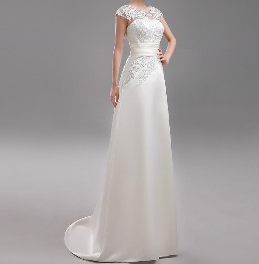 Dlhé svadobné šaty - 13 veľkostí, 3 farby - Obrázok č. 1