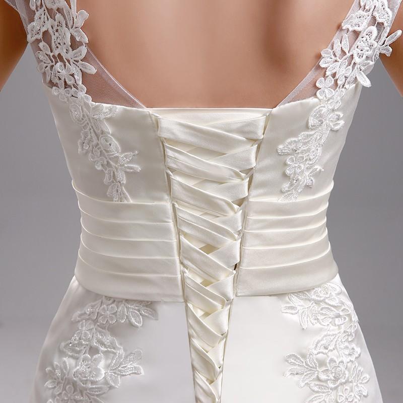 Dlhé svadobné šaty - 13 veľkostí, 3 farby - Obrázok č. 2