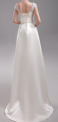 Dlhé svadobné šaty - 13 veľkostí, 3 farby - Obrázok č. 4