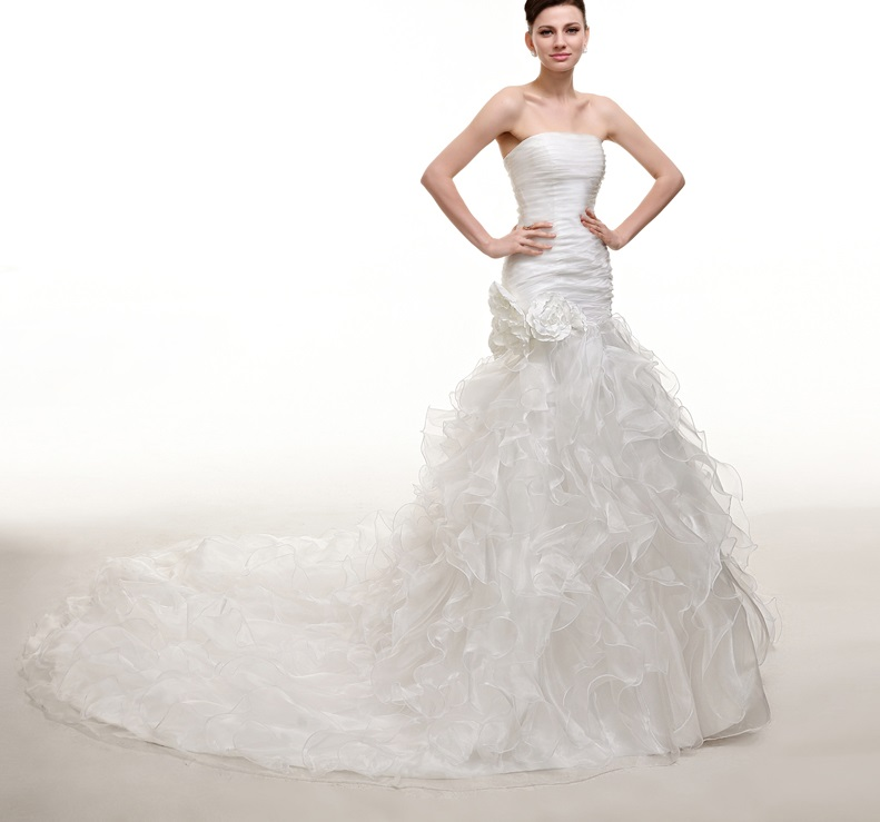 Dlhé svadobné šaty - 8 veľkostí - Obrázok č. 1