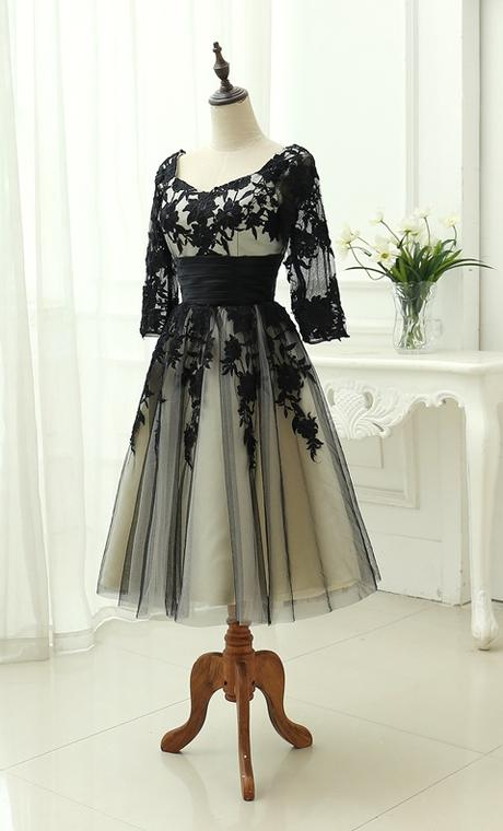 Midi svadobné šaty - 8 veľkostí, 2 farby - Obrázok č. 4