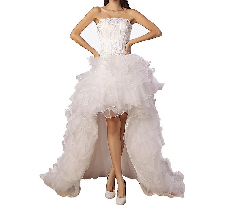Asymetrické svadob./popol. šaty-8 veľkostí,3 farby - Obrázok č. 1