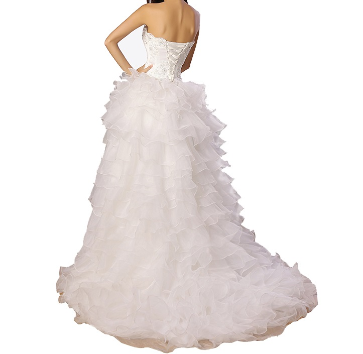 Asymetrické svadob./popol. šaty-8 veľkostí,3 farby - Obrázok č. 2