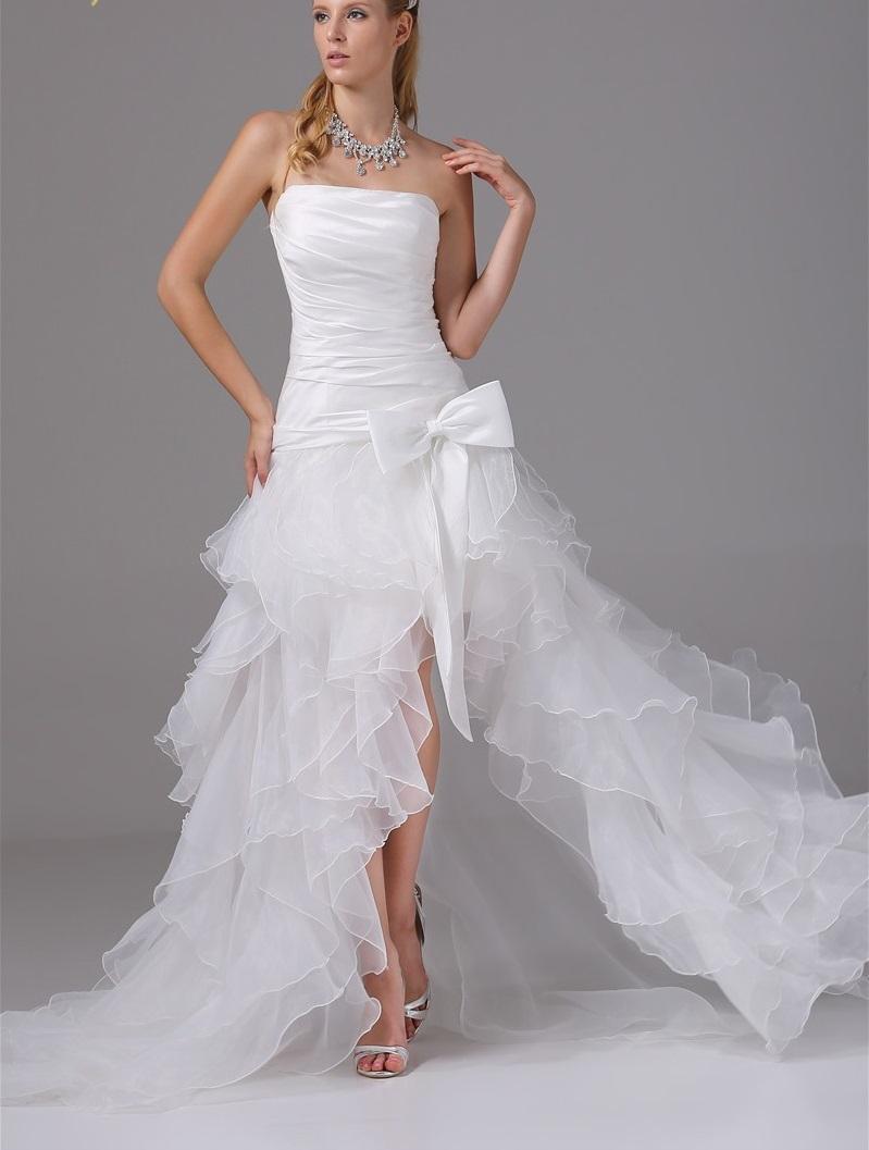 Asymetrické svadob./popol.šaty-13 veľkostí,9 farie - Obrázok č. 1