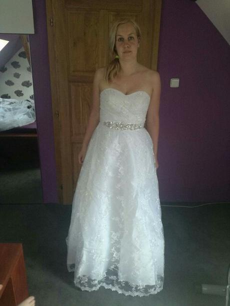 Dlhé svadobné šaty - 11 veľkostí, 2 farby - Obrázok č. 4