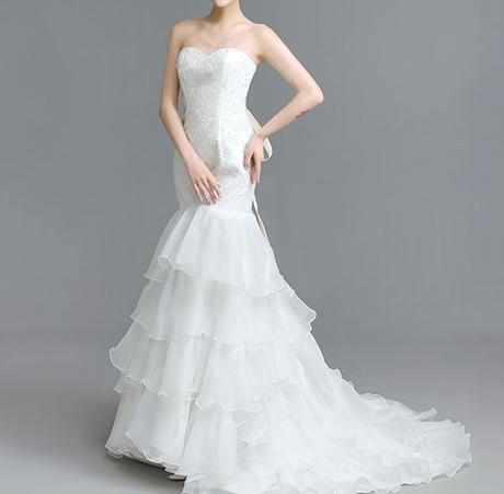 Dlhé svadobné šaty - 5 veľkostí - Obrázok č. 1