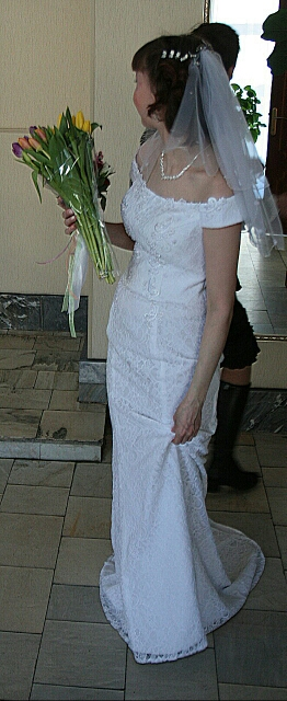 Dlhé svadobné šaty - 8 veľkostí, 2 farby - Obrázok č. 3