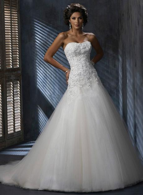 Dlhé svadobné šaty - 10 veľkostí, 3 farby - Obrázok č. 1