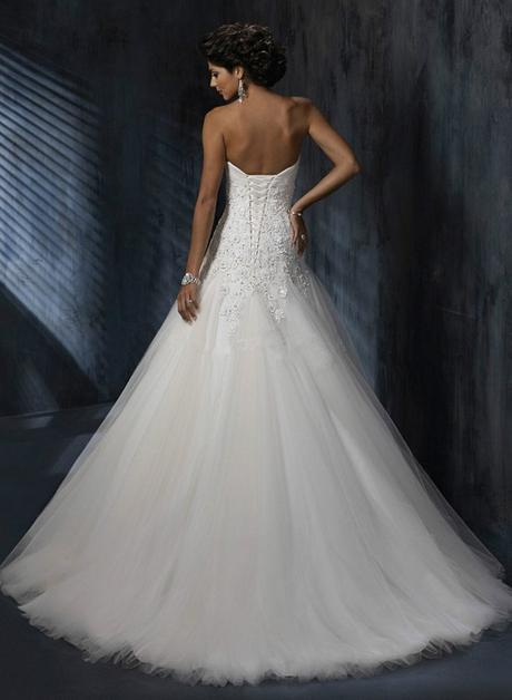 Dlhé svadobné šaty - 10 veľkostí, 3 farby - Obrázok č. 2