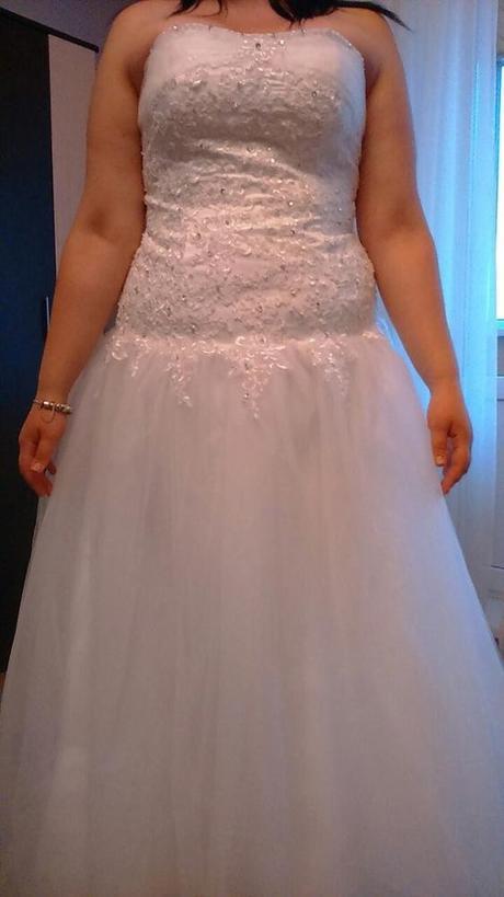Dlhé svadobné šaty - 10 veľkostí, 3 farby - Obrázok č. 4