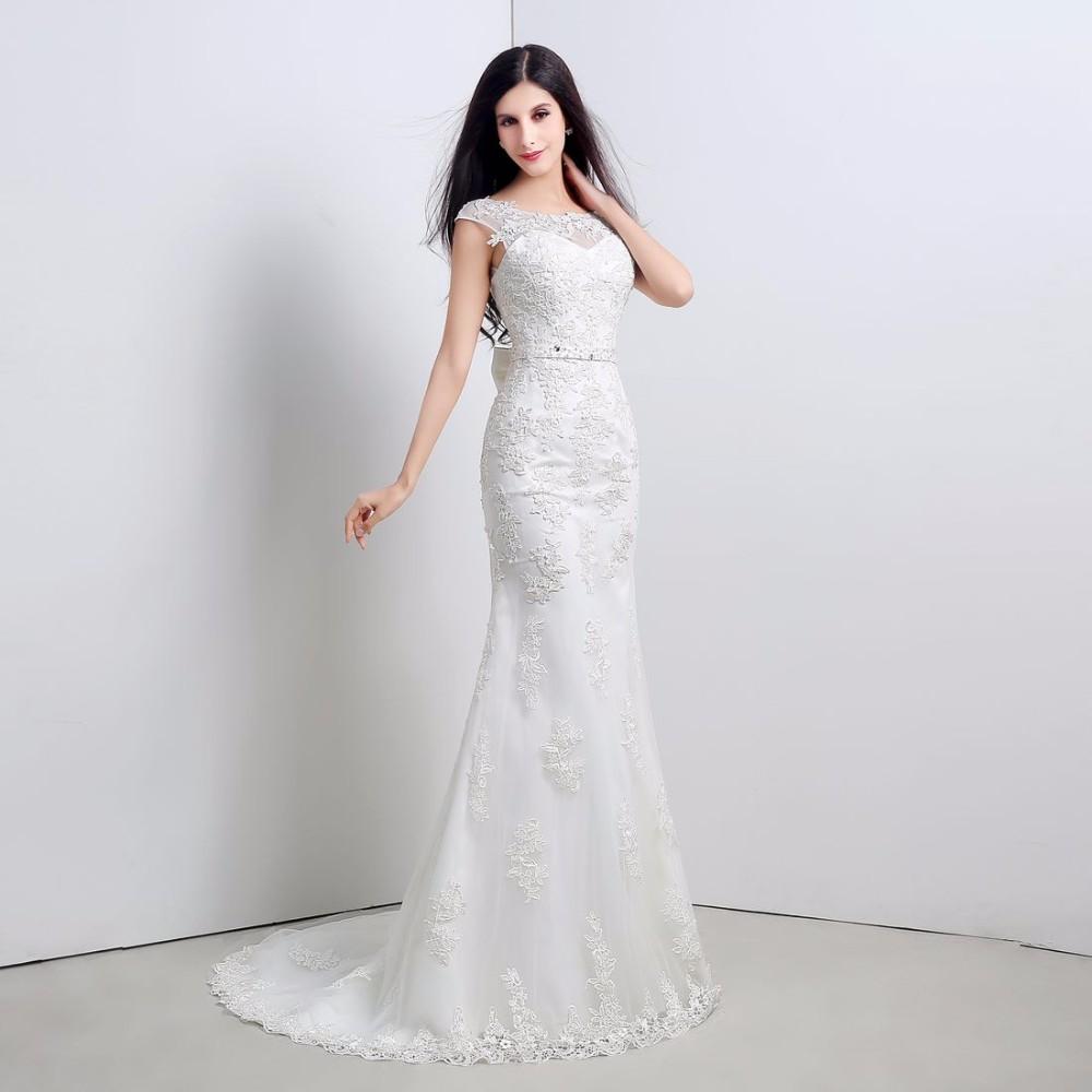 Dlhé svadobné šaty - 6 veľkostí, 2 farby - Obrázok č. 1