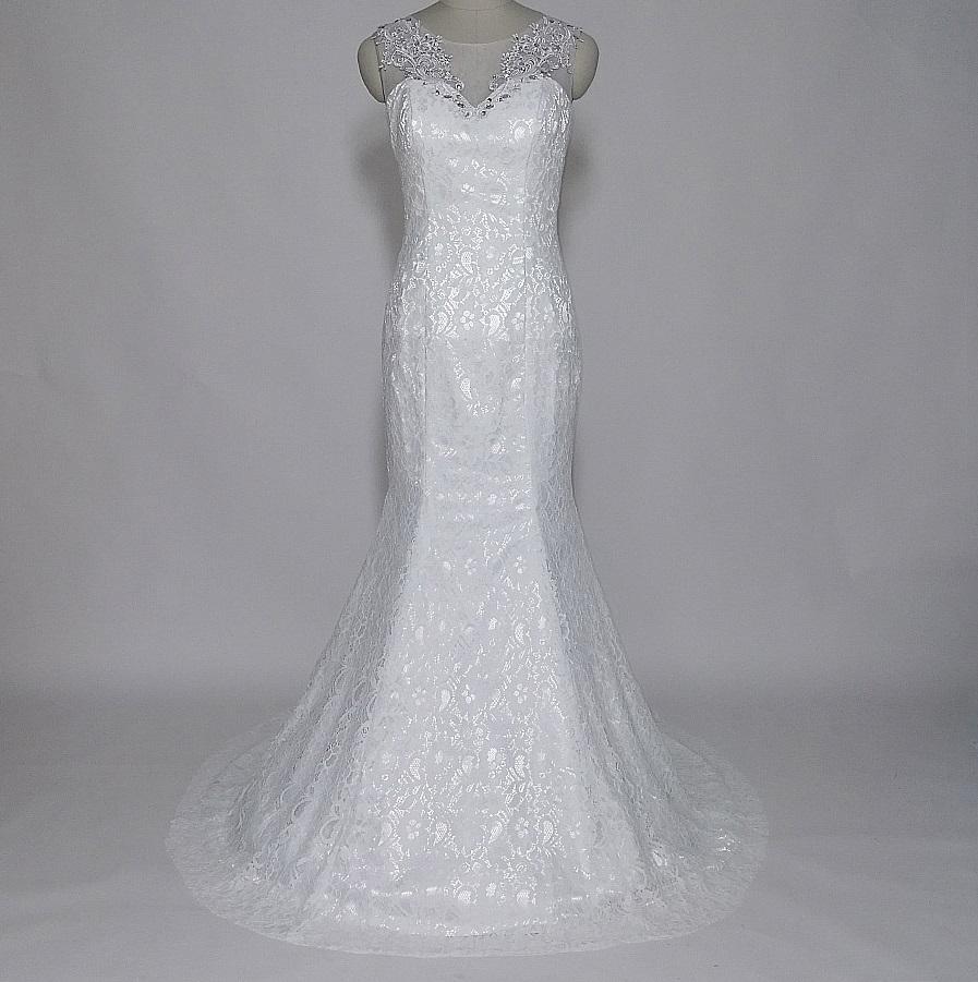 Dlhé svadobné šaty - 13 veľkostí, 2 farby - Obrázok č. 4