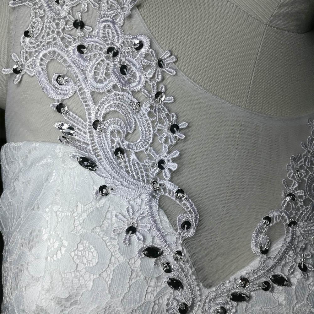 Dlhé svadobné šaty - 13 veľkostí, 2 farby - Obrázok č. 2