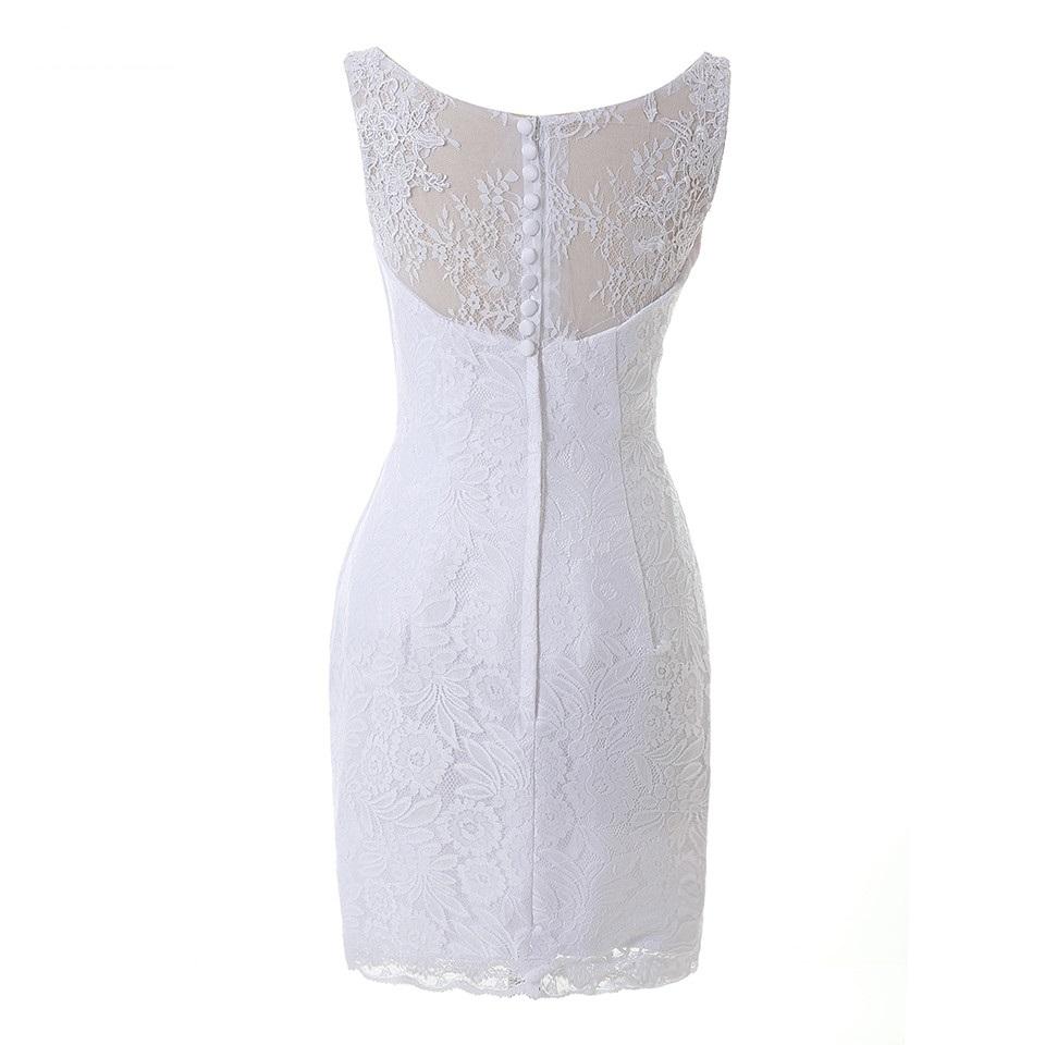 Dlhé/krátke svadobné šaty- 9 veľkostí, 2 farby-2v1 - Obrázok č. 4