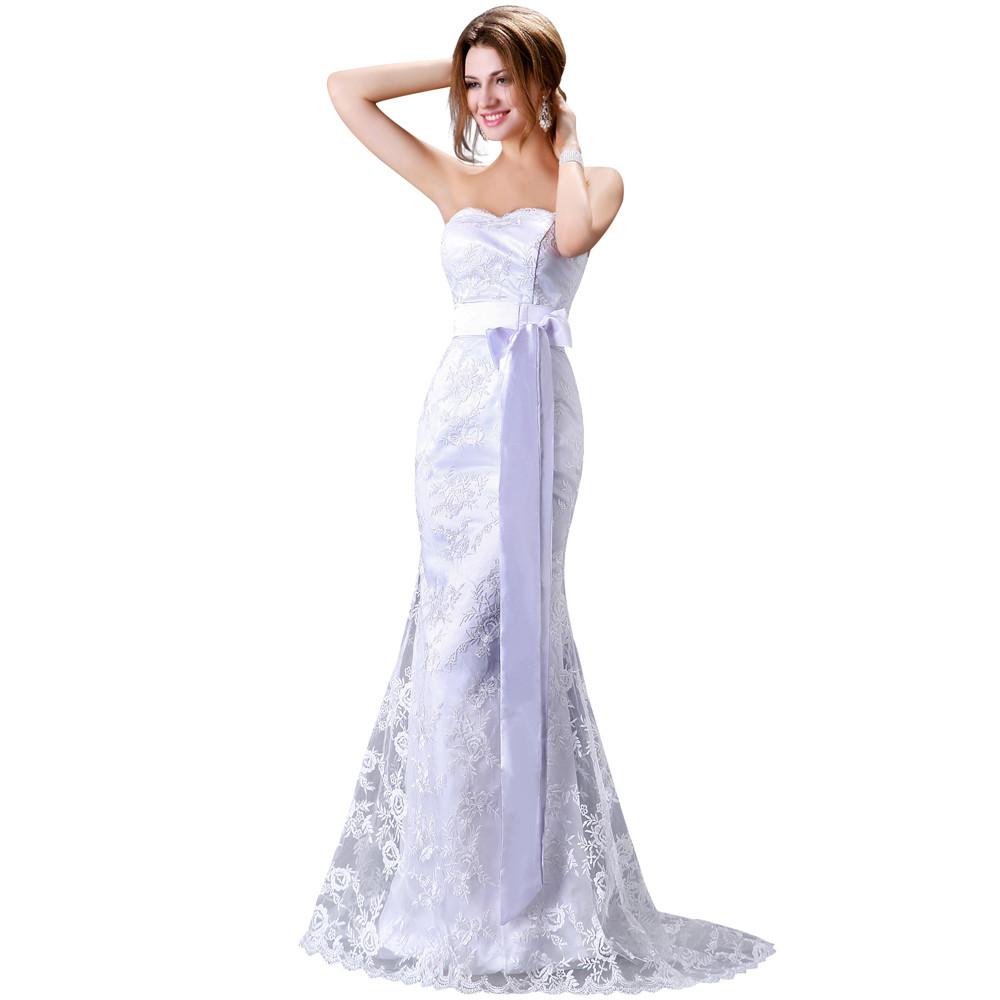 Dlhé svadobné šaty - 6 veľkostí - Obrázok č. 2