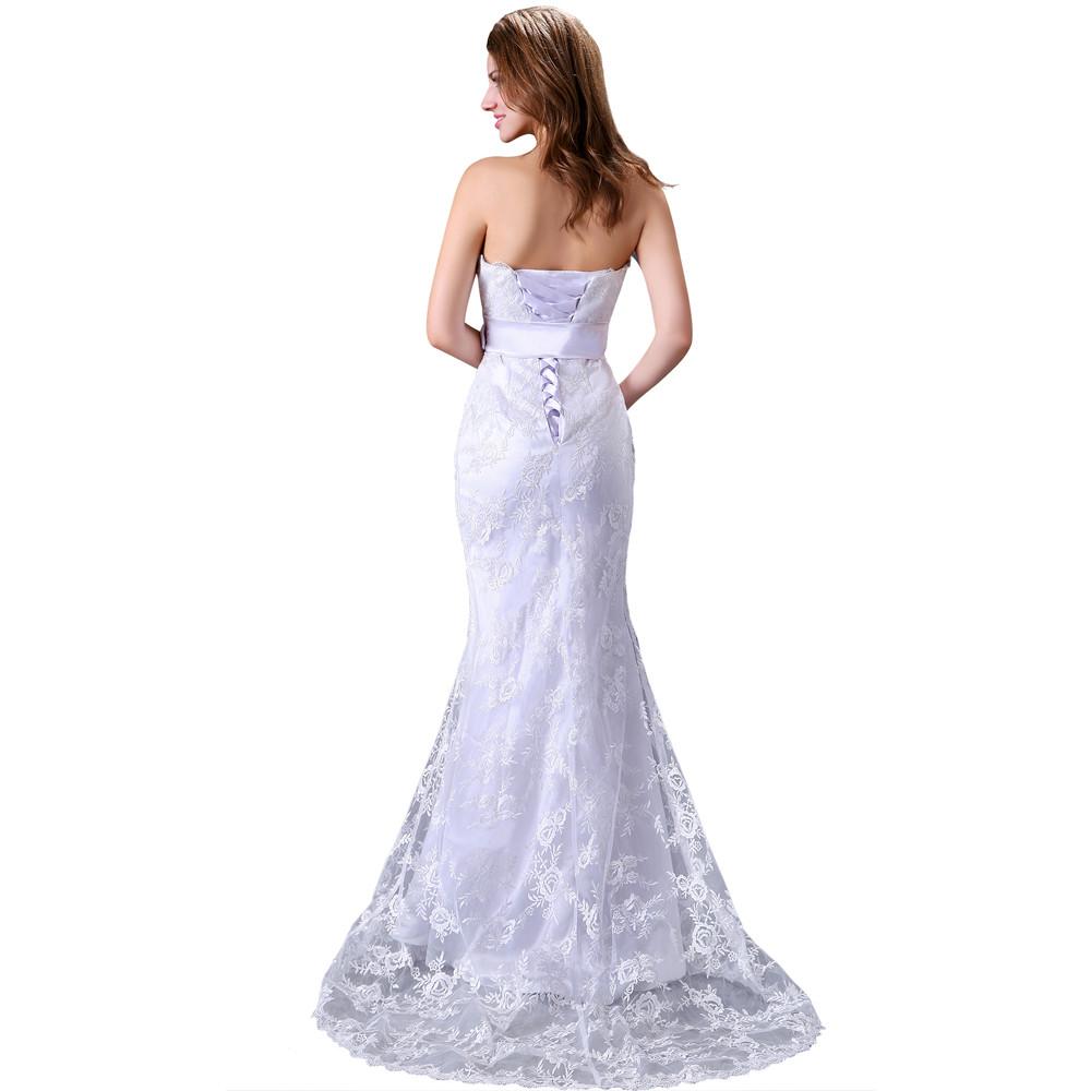 Dlhé svadobné šaty - 6 veľkostí - Obrázok č. 3