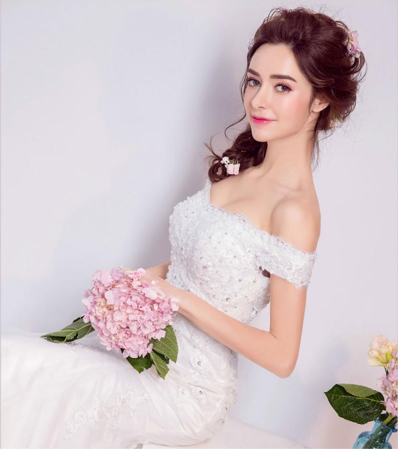 Dlhé svadobné šaty - 8 veľkostí - Obrázok č. 3
