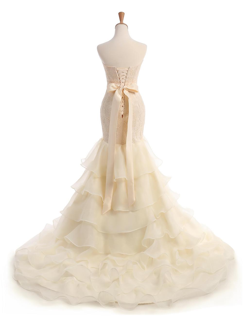 Dlhé svadobné šaty - 10 veľkostí - Obrázok č. 2