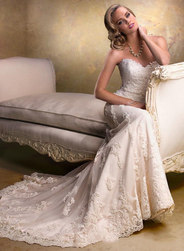Dlhé svadobné šaty - 13 veľkostí, 2 varianty - Obrázok č. 1
