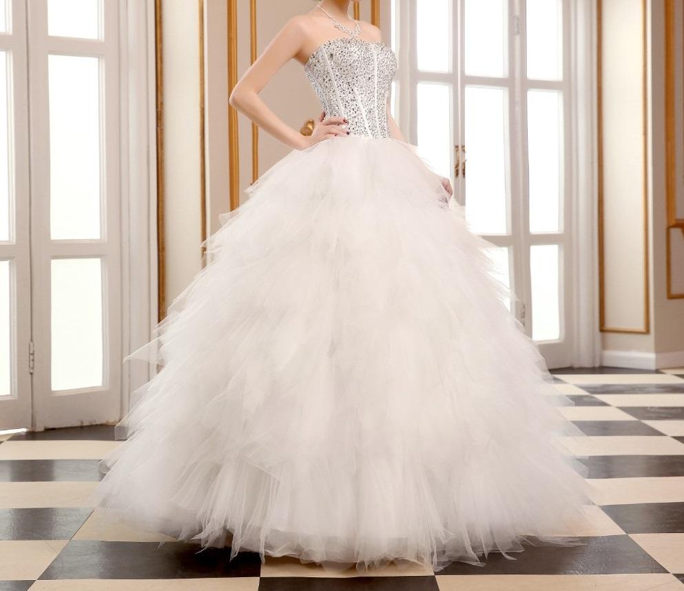 Dlhé svadobné šaty - 8 veľkostí,2 varianty,2 farby - Obrázok č. 1
