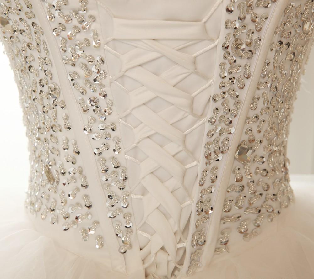 Dlhé svadobné šaty - 8 veľkostí,2 varianty,2 farby - Obrázok č. 4
