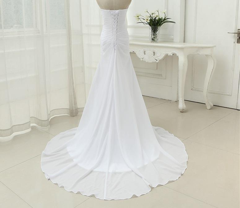 Dlhé svadobné šaty - 9 veľkostí, 3 farby - Obrázok č. 2