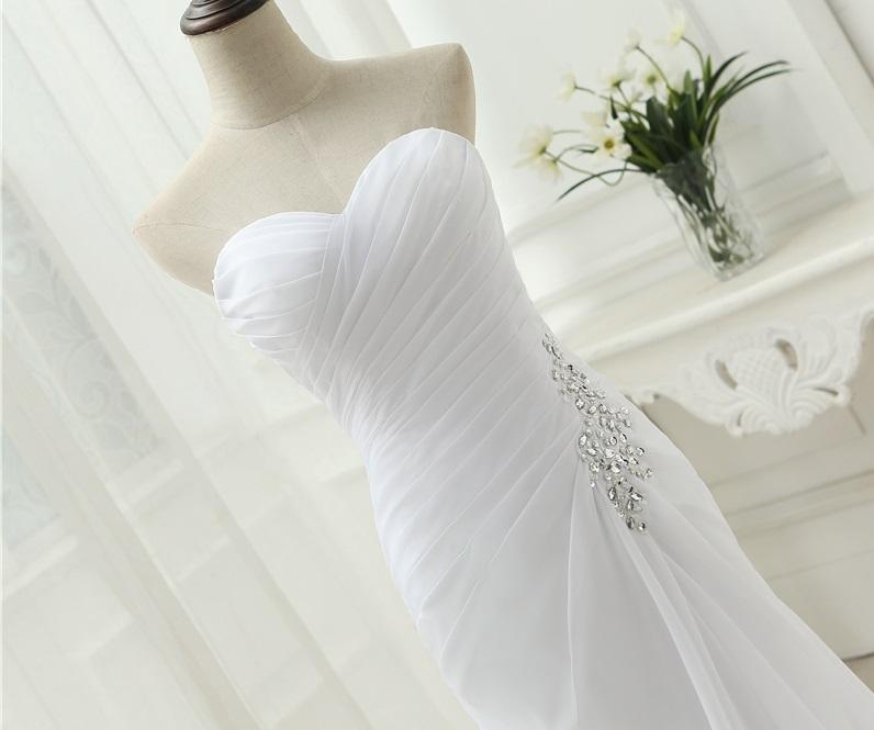 Dlhé svadobné šaty - 9 veľkostí, 3 farby - Obrázok č. 3