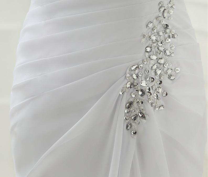 Dlhé svadobné šaty - 9 veľkostí, 3 farby - Obrázok č. 4