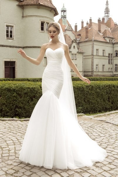 Dlhé svadobné šaty - 9 veľkostí, 5 farieb - Obrázok č. 1