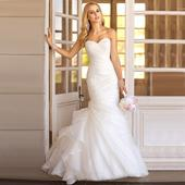 Dlhé svadobné šaty - 15 veľkostí, 2 farby, 50
