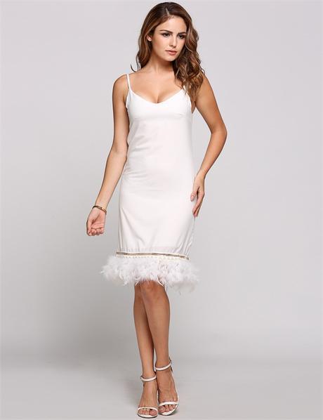 Spoločenské šaty s perím - 4 veľkosti - Obrázok č. 1
