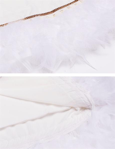 Spoločenské šaty s perím - 4 veľkosti - Obrázok č. 4