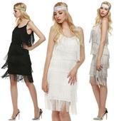 Spoločenské šaty + čelenka - 4 veľkosti, 3 farby, L