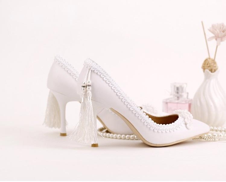 Svadobné lodičky, obuv - 5 veľkostí - Obrázok č. 4