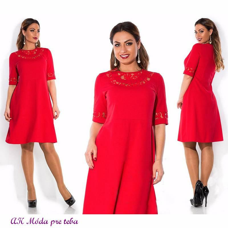 Spoločenské šaty pre moletky - XL - Obrázok č. 1