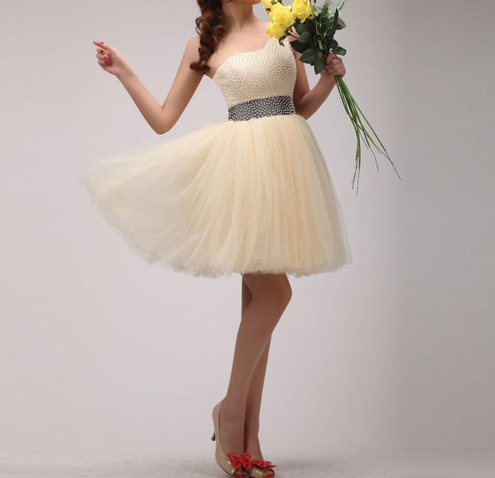 Krátke svadobné/popolnoč.šaty-8 veľkostí-7 stužiek - Obrázok č. 1