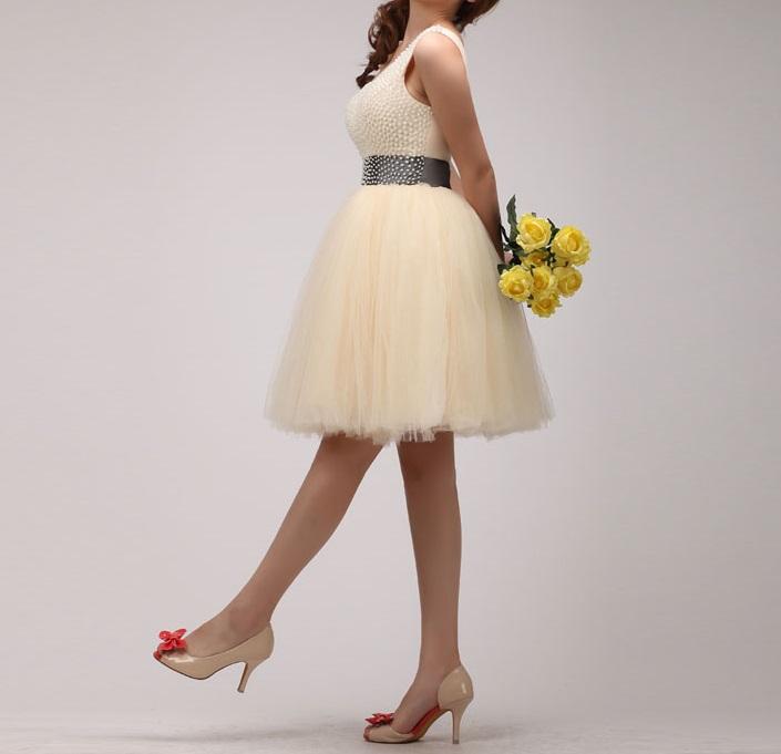 Krátke svadobné/popolnoč.šaty-8 veľkostí-7 stužiek - Obrázok č. 2