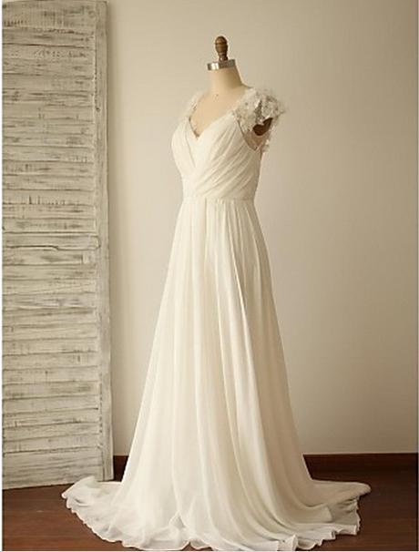 Dlhé svadobné šaty - 7 veľkostí - 2 farby - Obrázok č. 1