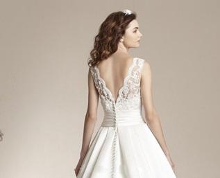 Dlhé svadobné šaty - 12 veľkostí, 2 farby, 2 typy  - Obrázok č. 4