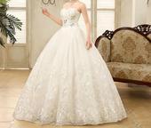 Dlhé svadobné šaty - 16 veľkostí, 48