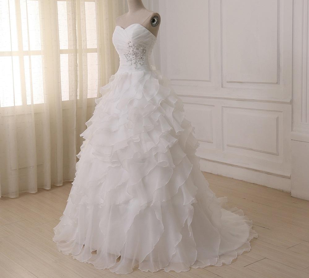 Dlhé svadobné šaty - 16 veľkostí, 2 farby - Obrázok č. 1