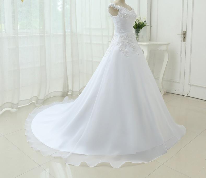 Dlhé svadobné šaty - 9 veľkostí, 2 farby - Obrázok č. 2