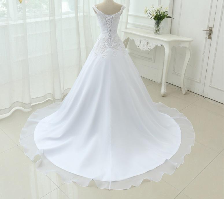 Dlhé svadobné šaty - 9 veľkostí, 2 farby - Obrázok č. 3