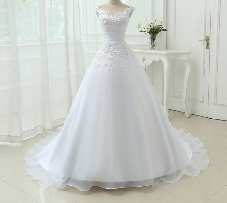Dlhé svadobné šaty - 9 veľkostí, 2 farby - Obrázok č. 4