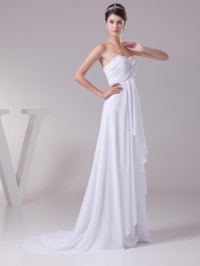 Dlhé svadobné šaty - 12 veľkostí, 2 farby - Obrázok č. 3