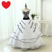 Dlhé extravagantné svadobné šaty - 12 veľkostí, 50