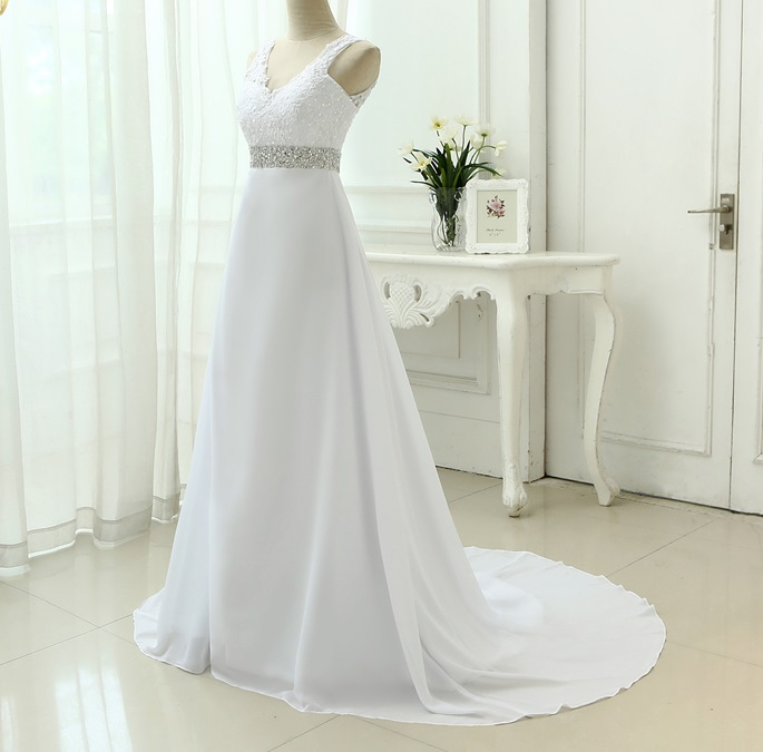 Dlhé svadobné šaty - 9 veľkostí, 3 farby - Obrázok č. 1